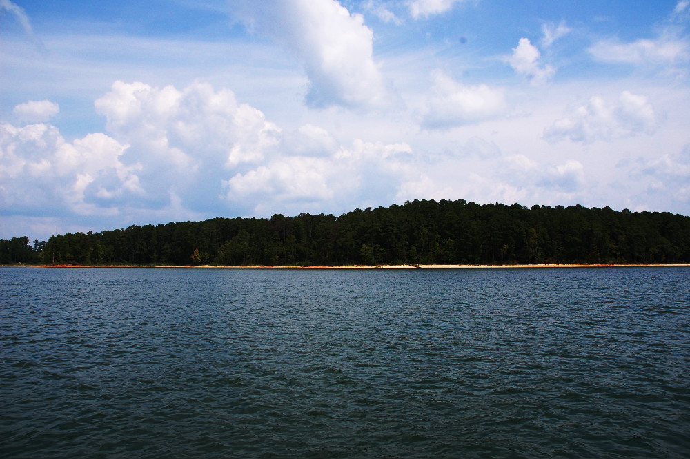 A view from a boat in Clarks Hill Lake, Georgia