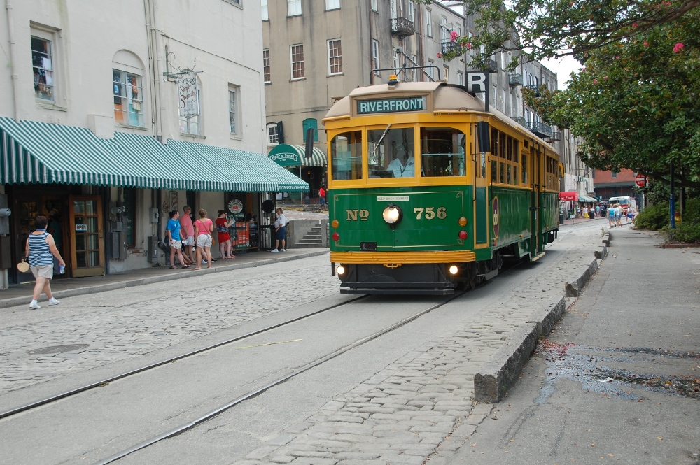 Trolley spotted in Savannah, Georgia