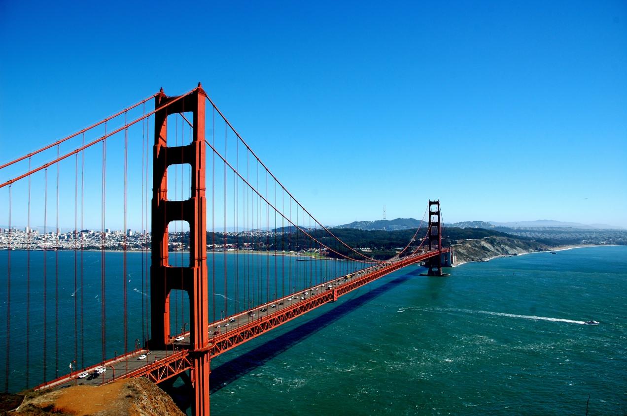 Golden Gate Bridge from the Marin Headlands - San Francisco, CA