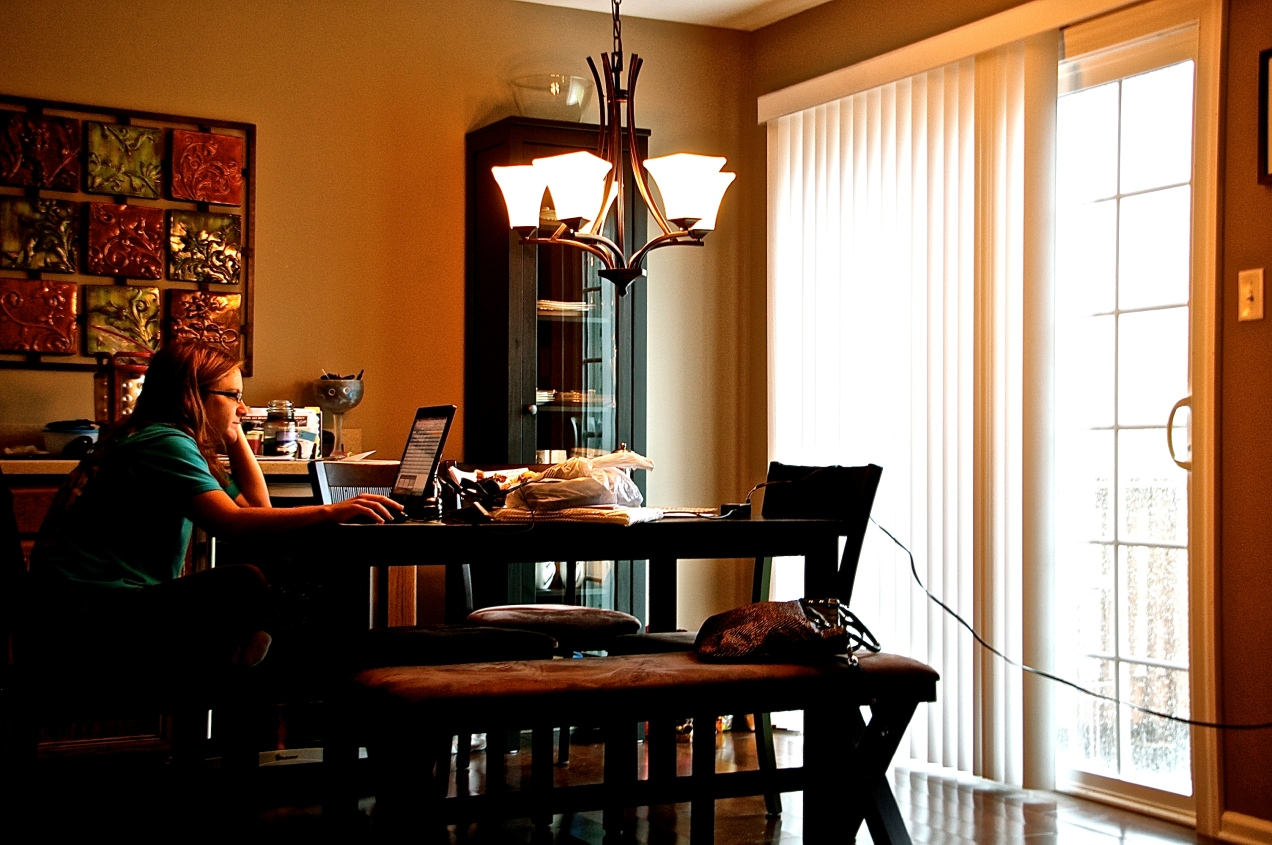 Working from home, thanks to Hurricane Sandy