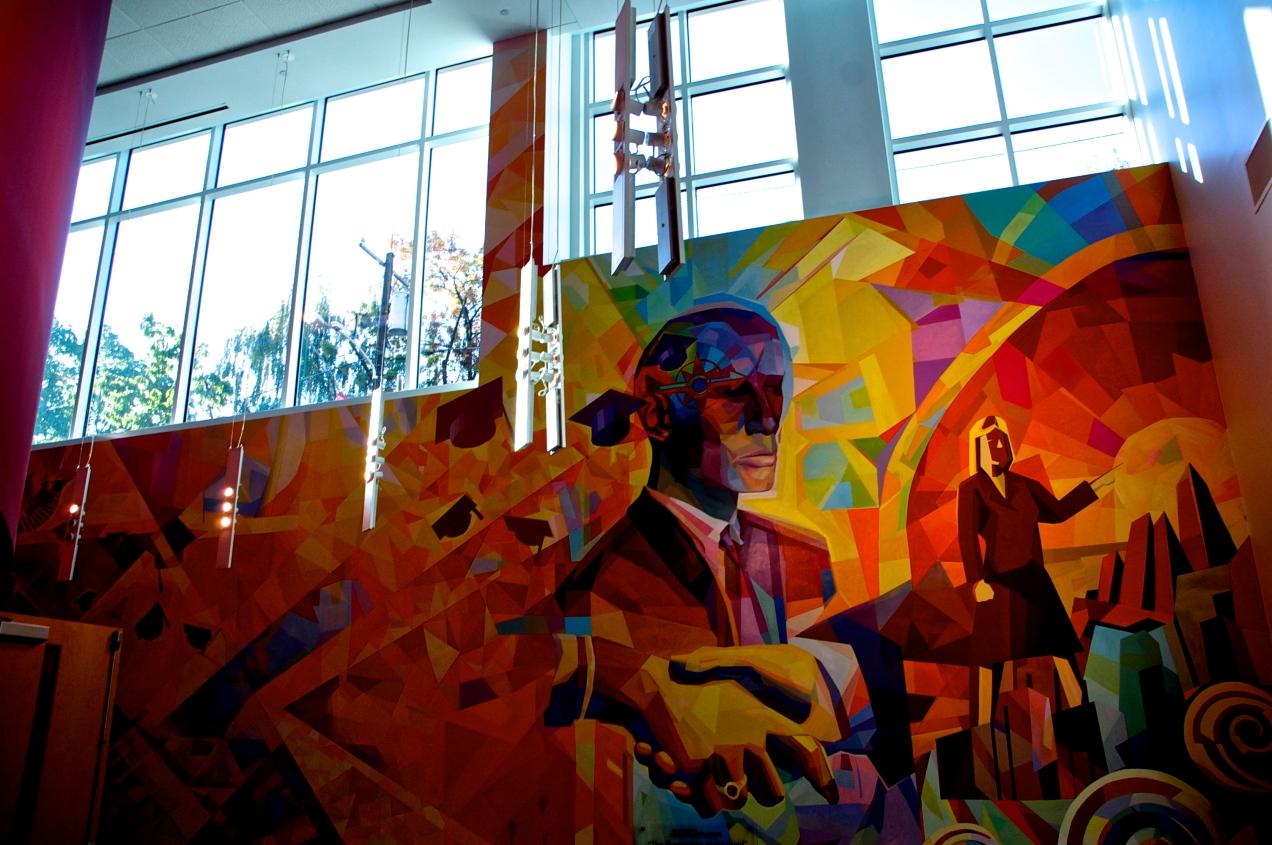 Art Mural in Alter Hall on Temple University's Main Campus - Philadelphia, PA