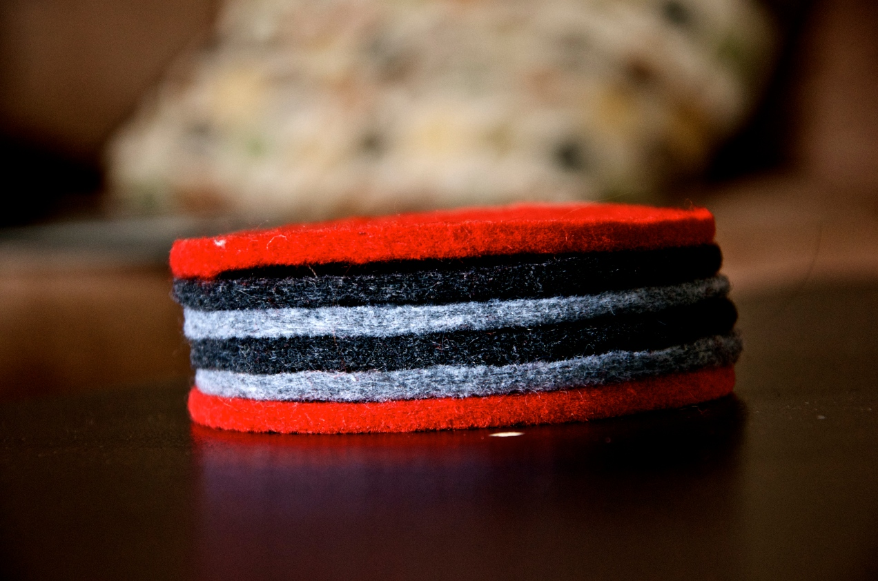 Stacked Felt Coasters