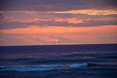 Sunrise from atop the cliffs at Shipwreck Beach - Kauai, Hawaii