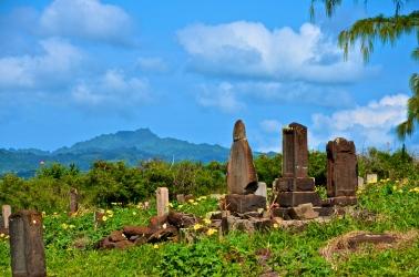 Japanese Glass Beach Cemetery - Kauai, Hawaii