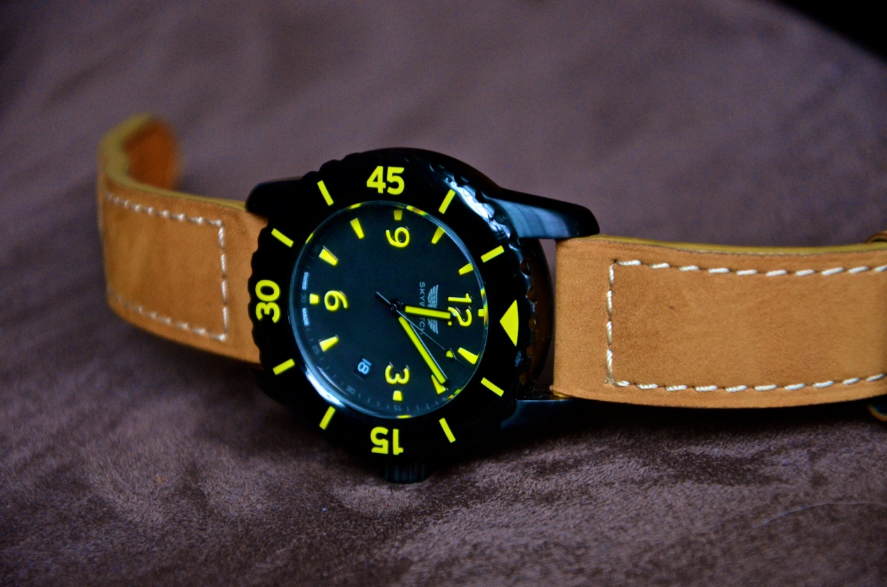 Skywatch on a Crown and Buckle Strap