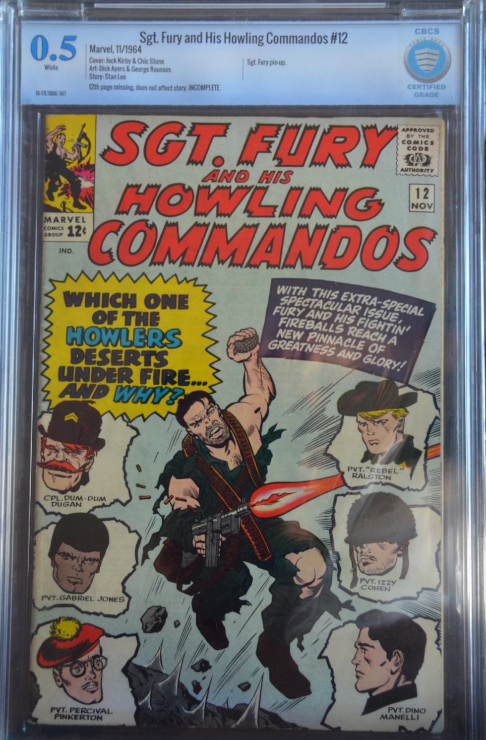 Sgt. Fury and His Howling Commandos #12 CGC 0.5